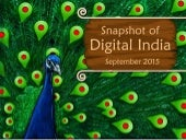 Snapshot of Digital India- September 2015