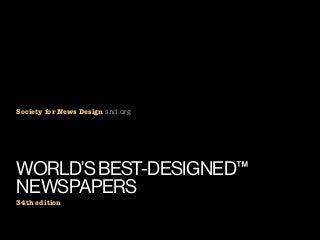 SND World's Best Newspapers 2013 winners
