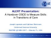 Alert 2017   lopreiato - a handover osce to measure skills in transitions of care updated