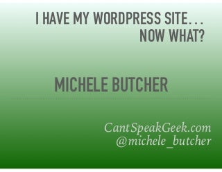 So i have a website now what?