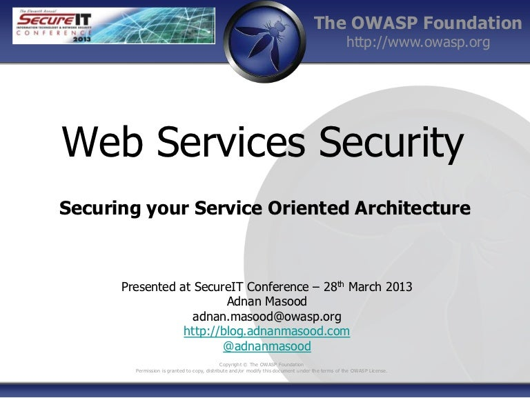 Thesis on web services security