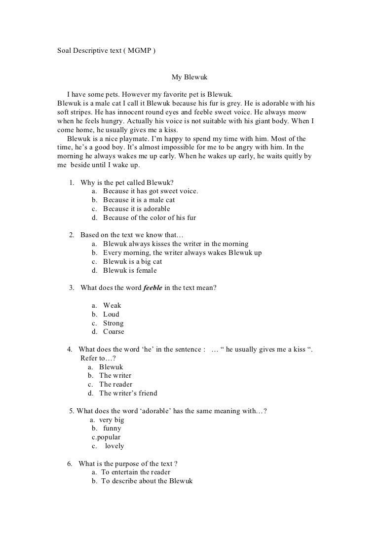 contoh soal essay procedure text dan jawabannya