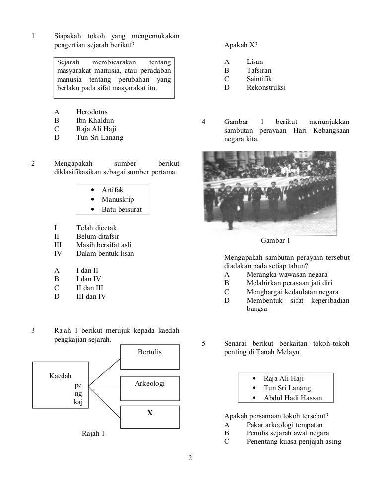 Soalan Sejarah Tingkatan 1