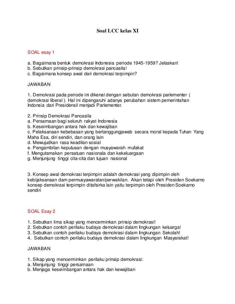 Soal Lcc 3 Kelas Xi