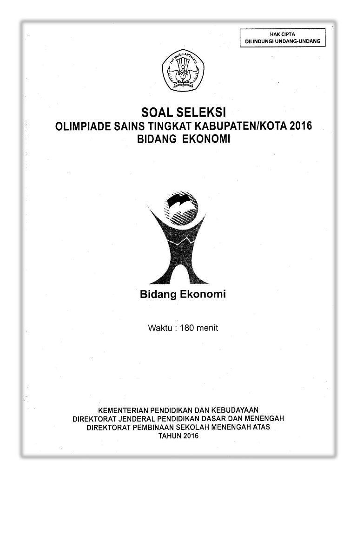 Soal OSK Ekonomi SMA 2016