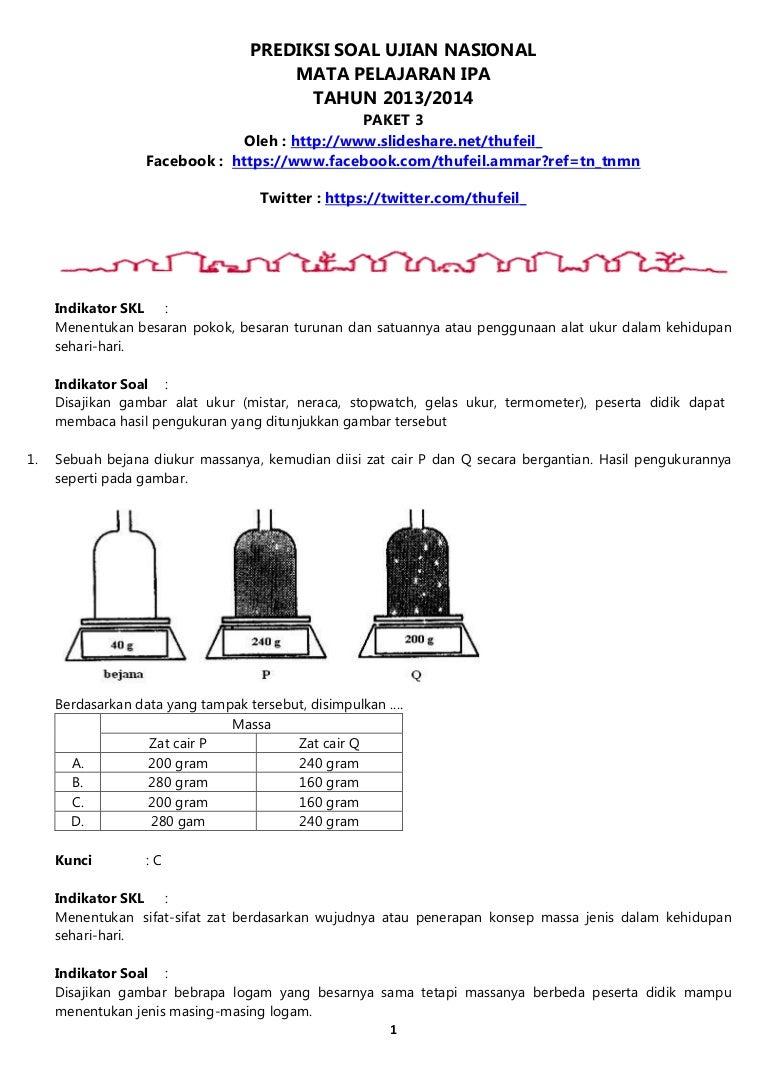Download Soal Un Ipa Smp 2013