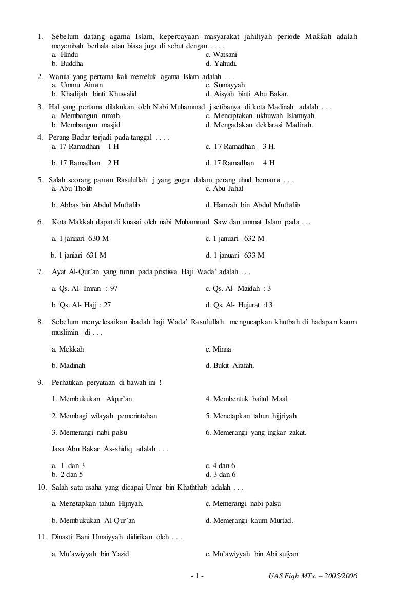 Soal Ski Kelas 8 Semester 1 Dan Kunci Jawaban Guru Galeri