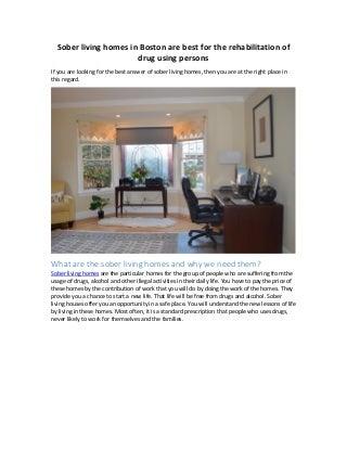 drug rehabilitation homes