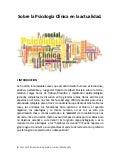 Sobre la psicología clínica en la actualidad 2013