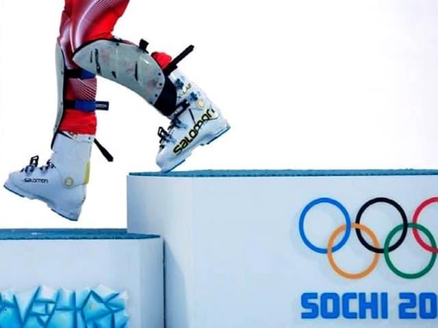 Thomas Lambert of Switzerland skis