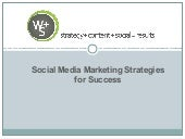Social media marketing strategies for success