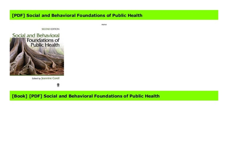 social and behavioral foundations of public health free download