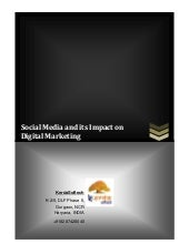 Social Media and its Impact on Digital Marketing