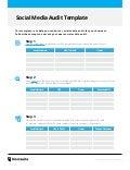 Social media audit-template