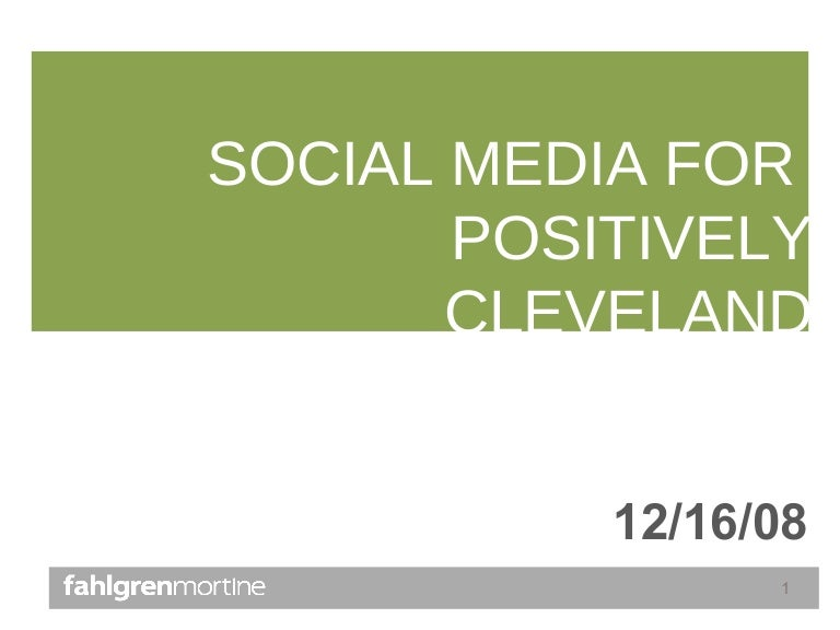 social media overview for positively cleveland