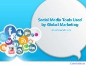 Social Media Tools Used by Global Marketing