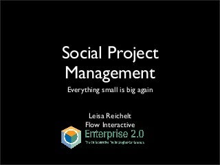 Social Project Management