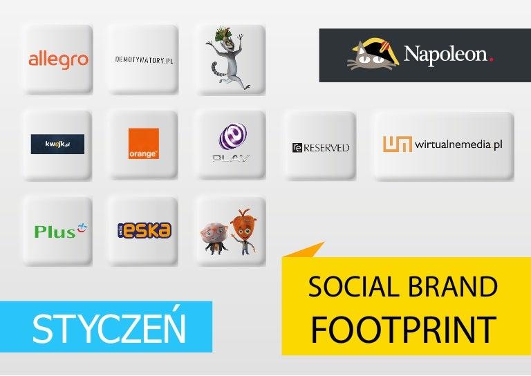 Social Brand Footprint - styczeń 2014