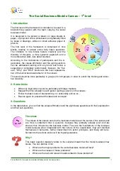 Social business models canvas, 1st level - Description and how to use