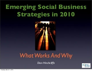 Emerging Social Business Strategies in 2010 - Social Business Summit 2010