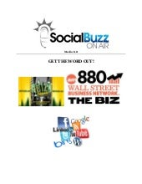 SocialBuzzONAIR Media Kit