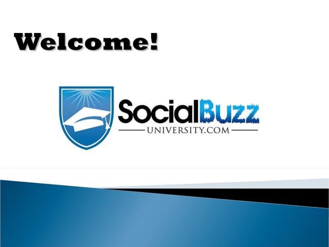 SocialBuzzUniversity.com - How to win with Social Media Training