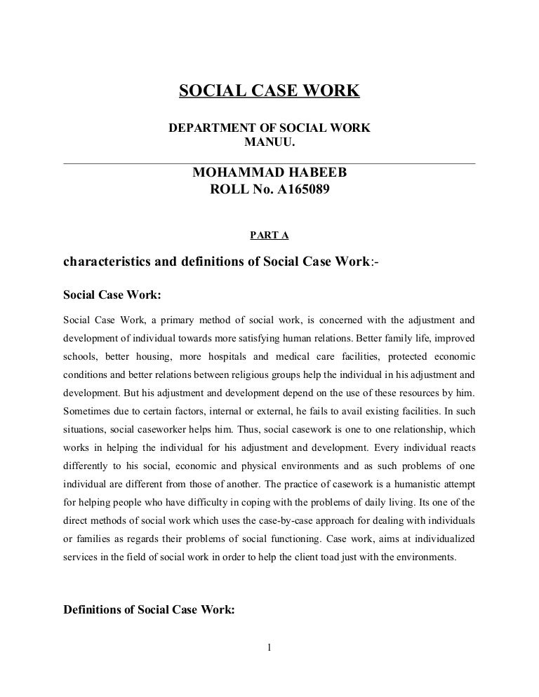 how to write a case note social work