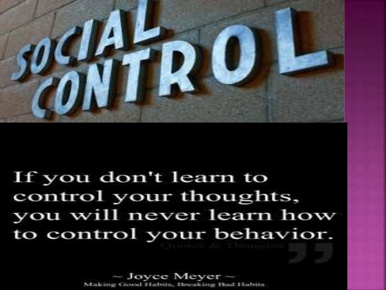 need of social control