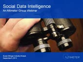 [Webinar] Social Data Intelligence, by Susan Etlinger