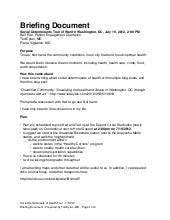 executive briefing document template