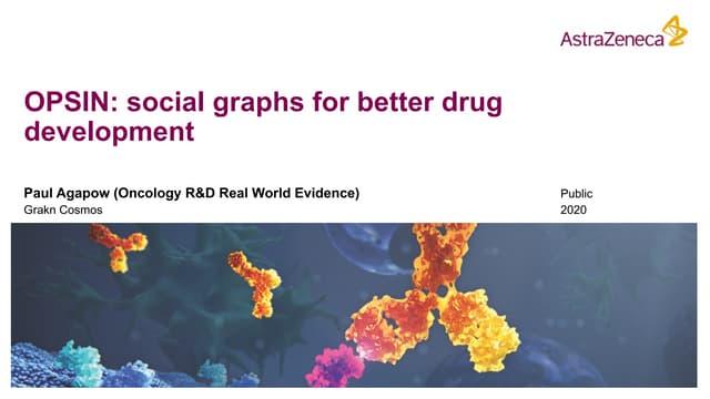 Social Graphs for Better Drug Development