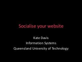 Socialise your website