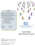 JSI Social Media Quick Reference