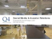 Social Media And Investor Relations - April 8, 2010