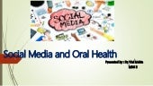 Social media and oral health