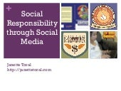 Social media and Social Responsibility for Youth Leaders