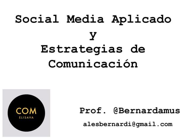 Applied Social Media & Communication Strategy