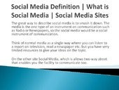 Social Media Definition | What is Social Media | Social Media Sites