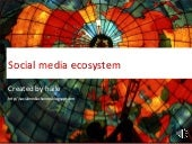 Social Media Ecosystem 2.0 at Barcampsaigon.
