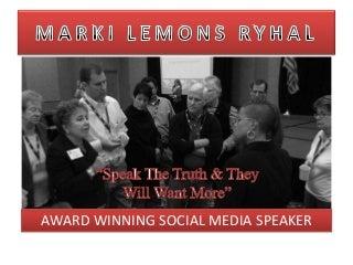 Social Media Speaker Offering Social Media Education