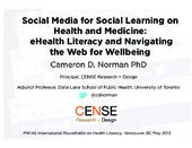 Social Media, Medicine and Health Literacy: Chronic Disease Prevention