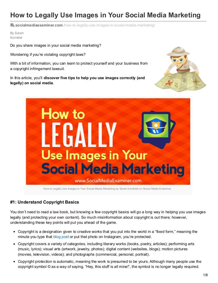 How To Legally Use Images In Your Social Media Marketing Via Social M