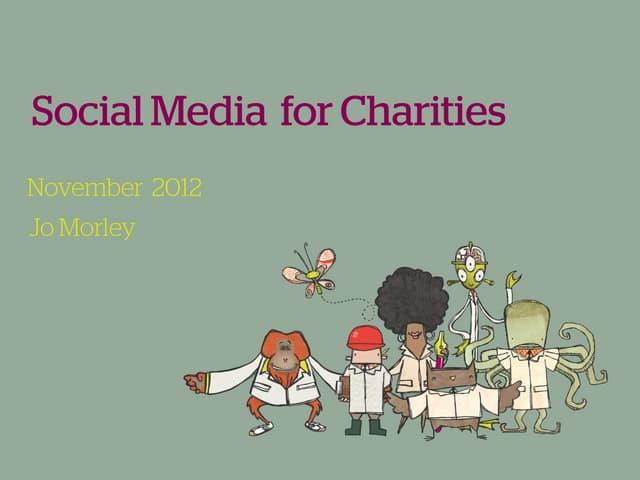 Social Media for Charities - November 2012