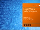 Social Media For Employement And Personal Brand