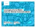Social media for internal communications