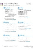 Social Media Image Sizes - Design Specification Checklist