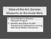 Social media in museum education