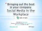 Social media in the workplace case study in implementation
