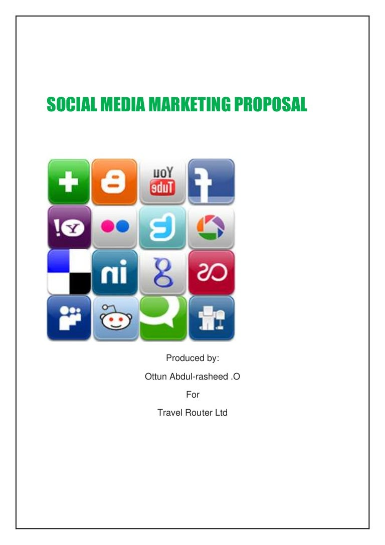 Social media marketing proposal for Travel and tourism business