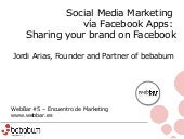 Social media marketing via facebook apps sharing your brand on facebook